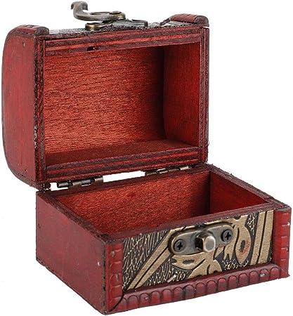 Organizador de Joyero Mini Cofre del Tesoro Pequeño Vintage Caja Decorativa de Madera para Joyas Estuche de Regalo Collar Anillo Organizador de Almacenamiento para Collares, Pendientes(Narcissus): Amazon.es: Hogar