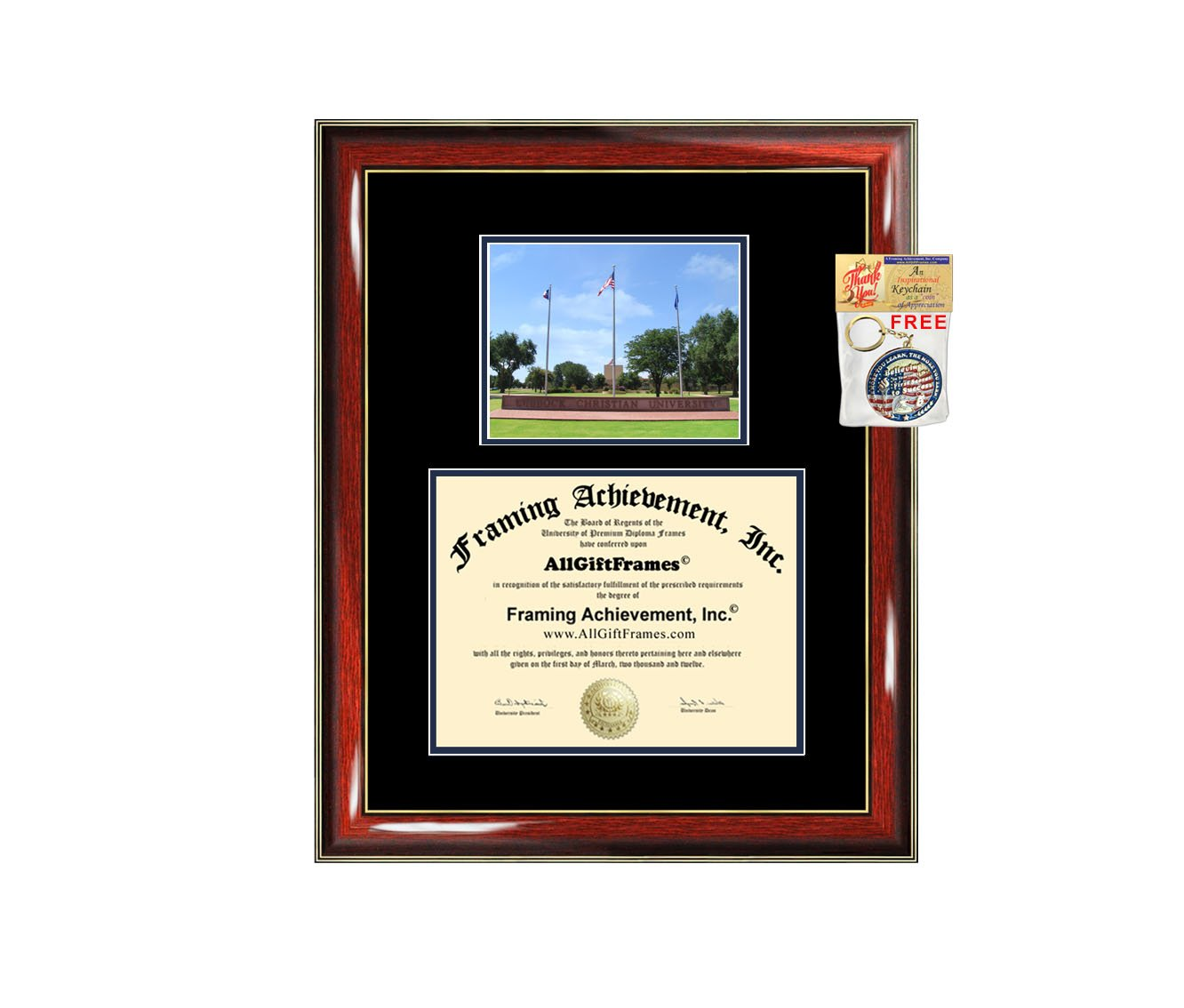 Lubbock Christian University Diploma Frame Graduation Degree Matted LCU College Campus Photo Graduation Gift Certificate Plaque Framing Collegiate