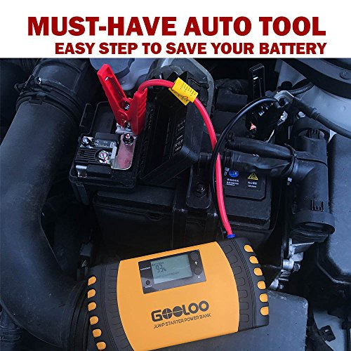 GOOLOO 1000A Peak 20800mAh SuperSafe Car Jump Starter with USB Quick Charge 3.0 (Up to 8.0L Gas, 6.0L Diesel Engine) 12V Auto Battery Booster Portable Charger Power Pack Built-in Smart Protection by GOOLOO (Image #6)