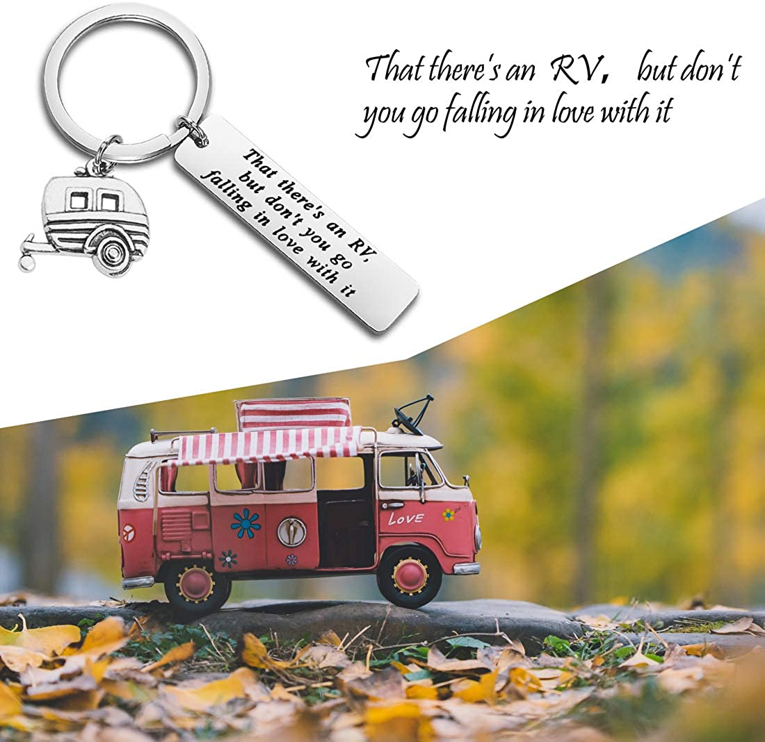 mountains keychain personalized gift key fob hand stamped Camper keys keychain tassel keychain travel love