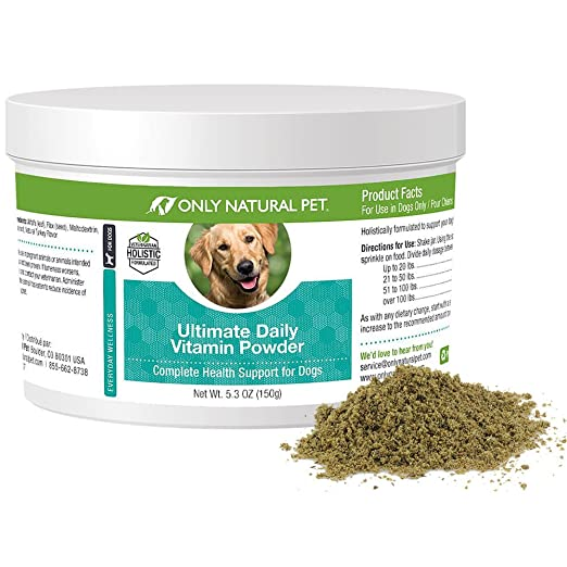 Only Natural Pet Ultimate Daily Vitamin Nutritional Supplement for Dogs -  Dog Multivitamin Supplements for Joints, Skin & Coat, Immune Support,
