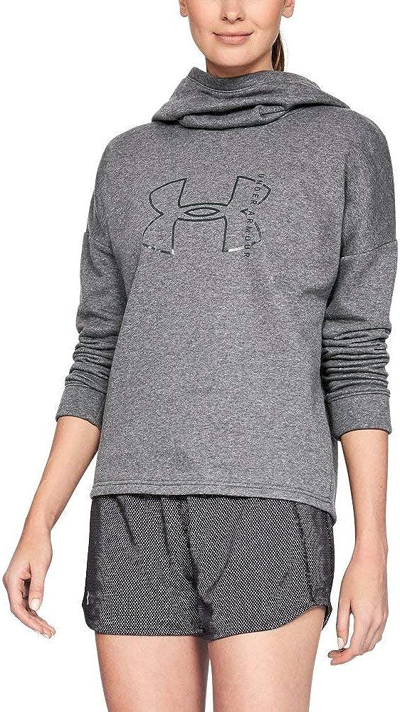Under Armour Women's Max 78% Great interest OFF Rival Hoodie Logo Fleece Big