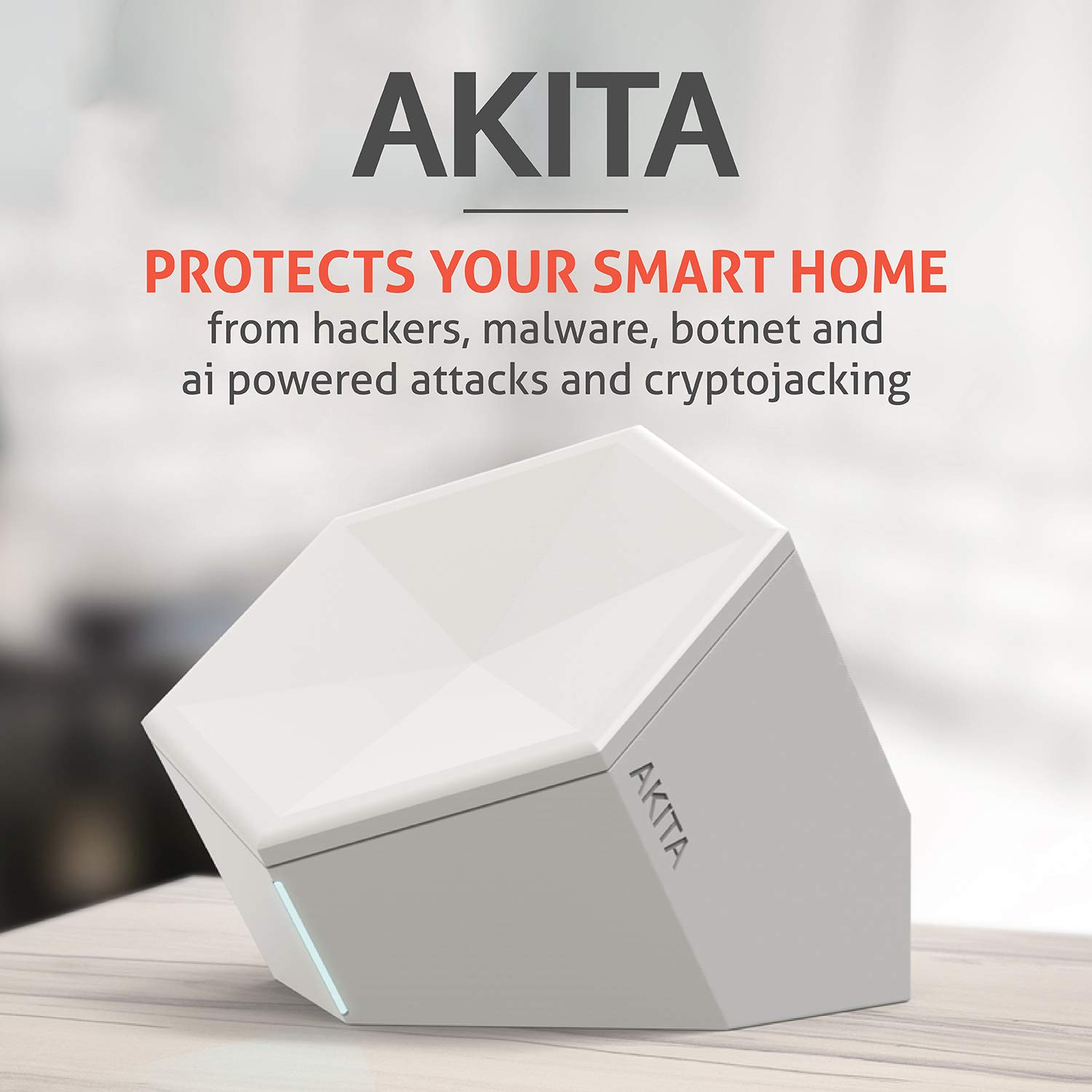 Akita - Smart Home Internet Security Safe Your Smart Home, Security Firewall for Home and Business Everytime, Protect Network from Viruses, Maiware, Botnet Attacks and Cryptojacking. by AKITA WatchDog