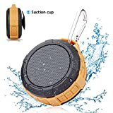 Portable Waterproof Bluetooth Shower Speaker - Hcman Mini Speakers with Micro SD Card Slot, Built-In Mic, Suction Cup, Hands-Free Speakerphone, Perfect Wireless Speaker for Home, Outdoors, Travel