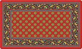 Toland Home Garden French Paisley 18 x 30 Inch Decorative Floor Mat Red Design Pattern Doormat