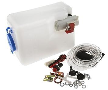Bomba de limpiacristales con depósito universal para vehículos de 12 V: Amazon.es: Bricolaje y herramientas