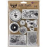 "Prima Marketing Finnabair Cling Stamps 6""X7.5"", Rust & Dust"