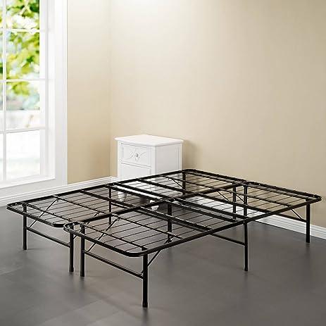 spa sensations steel smart base bed frame black multiple sizes queen - Width Of Queen Bed Frame