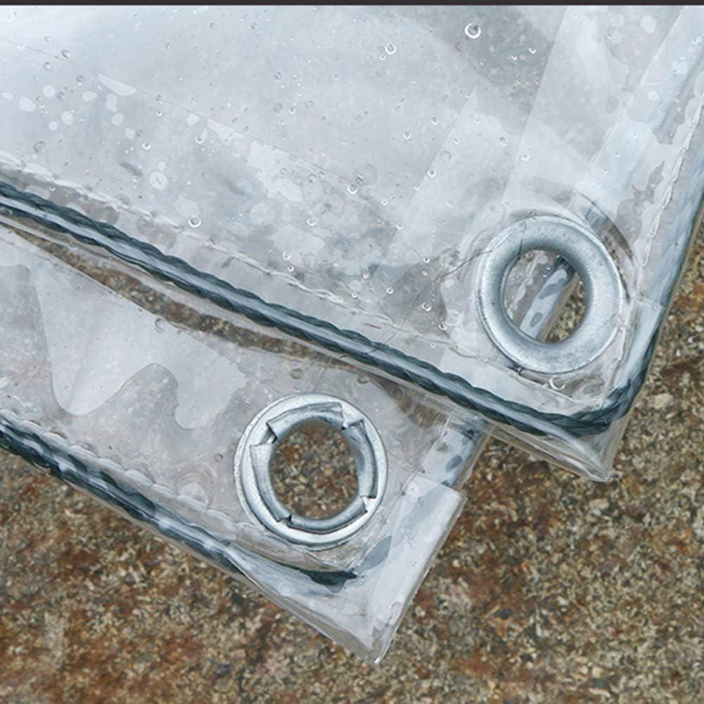 ABMOS Lona Lona Transparente de PVC Impermeable L/ámina de Lona de pl/ástico Ultra Transparente Mantener Caliente Pel/ícula de jard/ín Lona de Cubierta de Invernadero 1.2/×2m