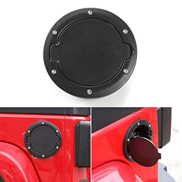 Gas Fuel Tank Door Cover Cap Fuel Filler Door Cover for 2007-2017 Jeep Wrangler JK /& Unlimited 4 Door 2 Door