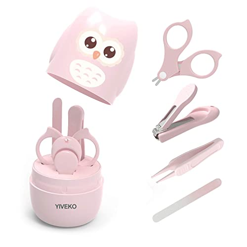 YIVEKO Baby Nail Kit, 4-in-1 Baby Nail Care Set with Cute Case