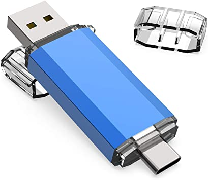 KOOTION Memoria USB Tipo C 64GB 3.0 Pendrive Type C 64 Giga OTG Pen USB C Dual Flash Drive USB C Pen Drive Doble Entrada, Azul: Amazon.es: Electrónica