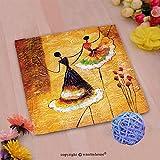VROSELV Custom Cotton Microfiber Ultra Soft Hand Towel-oil painting spanish dance Custom pattern of household products(14''x14'')