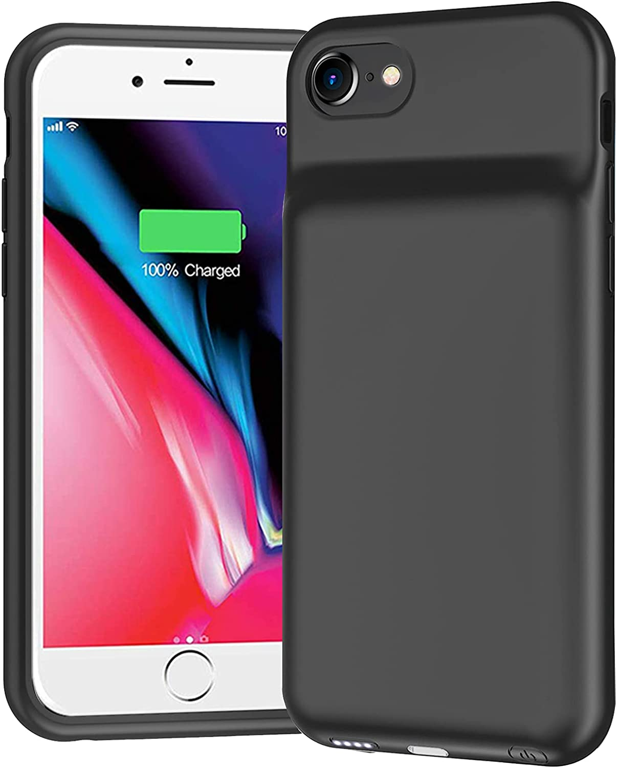 Battery Case for iPhone 7/8/6/6s/SE 2020, 6500mAh Portable Protective Charging Case Compatible with iPhone SE 2020/8/7/6/6s (4.7 inch) Extended Battery Charger Case (Black)