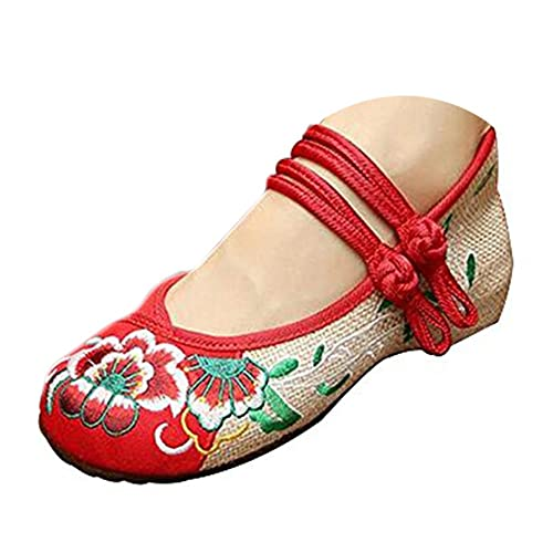 Chaussures Florales Chinoises Brodées CHAHUA Vintage Mary Jane Ballerine Fille Flat Ballet Cotton Loafer vC3ym9y9it