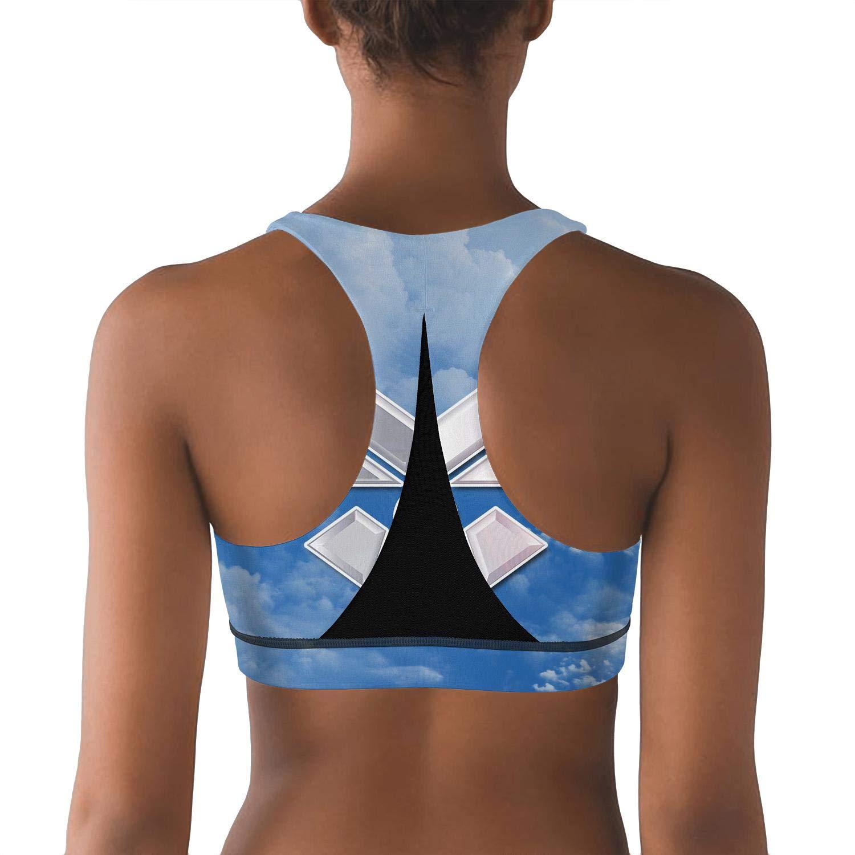 Fit Bee us air foce Sports Bras Summer Yoga Running Crop Tank Top