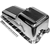 Assault Racing Products A8446 Small Block Ford Polished Aluminum Oil Pan Retro Finned Front Sump SBF 260 289 302