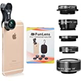 5 in 1 Universal Clip On Cell Phone Camera Lens Kit for iPhone 8 / 7 / 6 / 5, Samsung S7/S7 Edge & Most Smartphones
