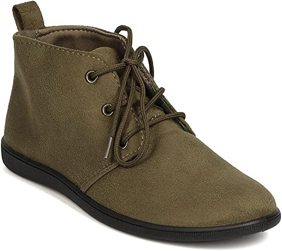 Amazon.com: Botines planos con cordones para mujer: Shoes