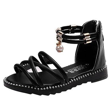 Fils Plates Chaussures Noir Ohq Romaines Princesse Sandales Petit wTlXiOkuPZ