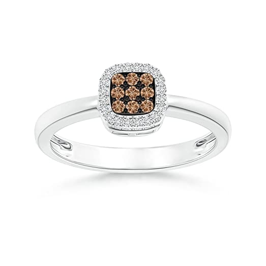 Angara Brown Diamond Interwoven Crossover Ring in Yellow Gold NMxfeK