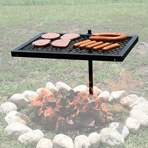 Texsport Heavy Duty Barbecue Swivel Grill for Outdoor BBQ over Open - Camping Equipment Cooking