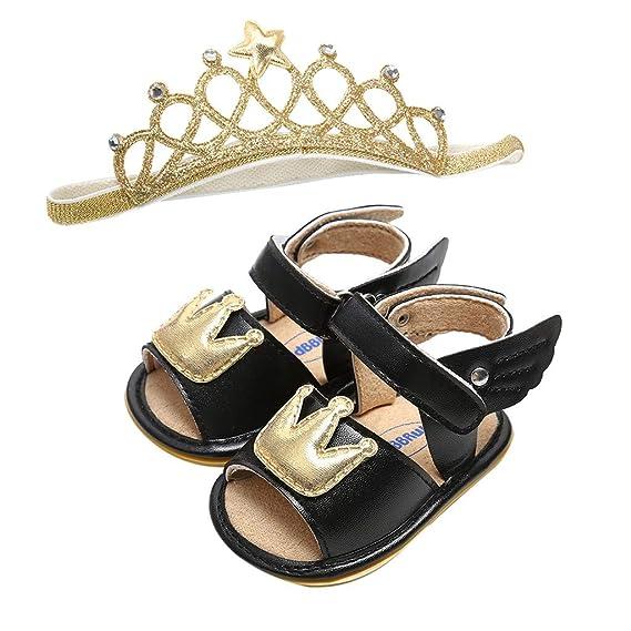 Berimaterry Zapatos de bebé Sandalias Misma Banda de Pelo Niño ...