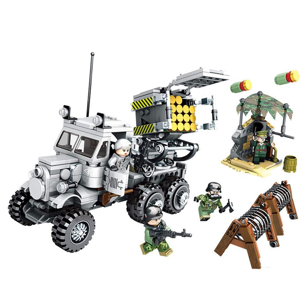 YL ミリタリーシリーズ ジャスティス アクション ミサイル 車 子供用パズル 小さな粒子挿入ブロック おもちゃ 誕生日プレゼント   B07RDB928B