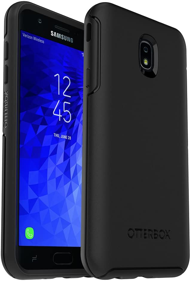 OtterBox Symmetry Series Case for Samsung Galaxy J7 2nd gen/J7 V 2nd gen/J7 Refine - Retail Packaging - Black