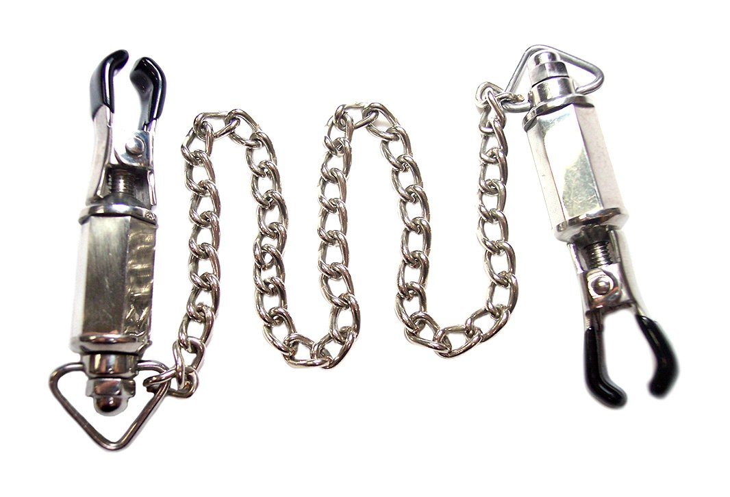 Rouge Nipple Clamps with Weights by Rouge Garments