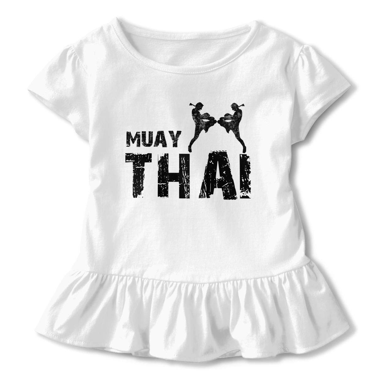 Baby Girls Kids Muay Thai Cotton Short Sleeve Tee Tops Size 2-6