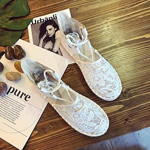 fondo de five zapatos Thirty sandalias sandalias Tirantes de plano mujeres transpirable y con cuerda mujer de gqIqBaw7