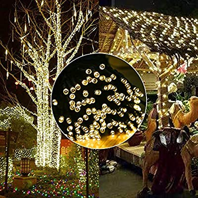Upgraded 105 Feet 300 LED Christmas String Lights, Indoor Outdoor Christmas Lights, End-to-End Plug 8 Modes - UL Certified Fairy Lights Idear for Christmas Tree, Patio, Garden, Party, Wedding Use : Garden & Outdoor