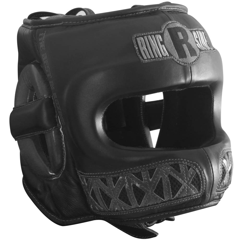 Ringside Youth Face Saver Headgear, Black, Large