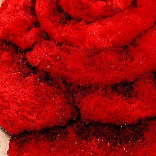 SU@DA Carpet Mat Kitchen Bathroom Anti-skid Living room Foot pad Printing , red , 80160cm by SU@DA