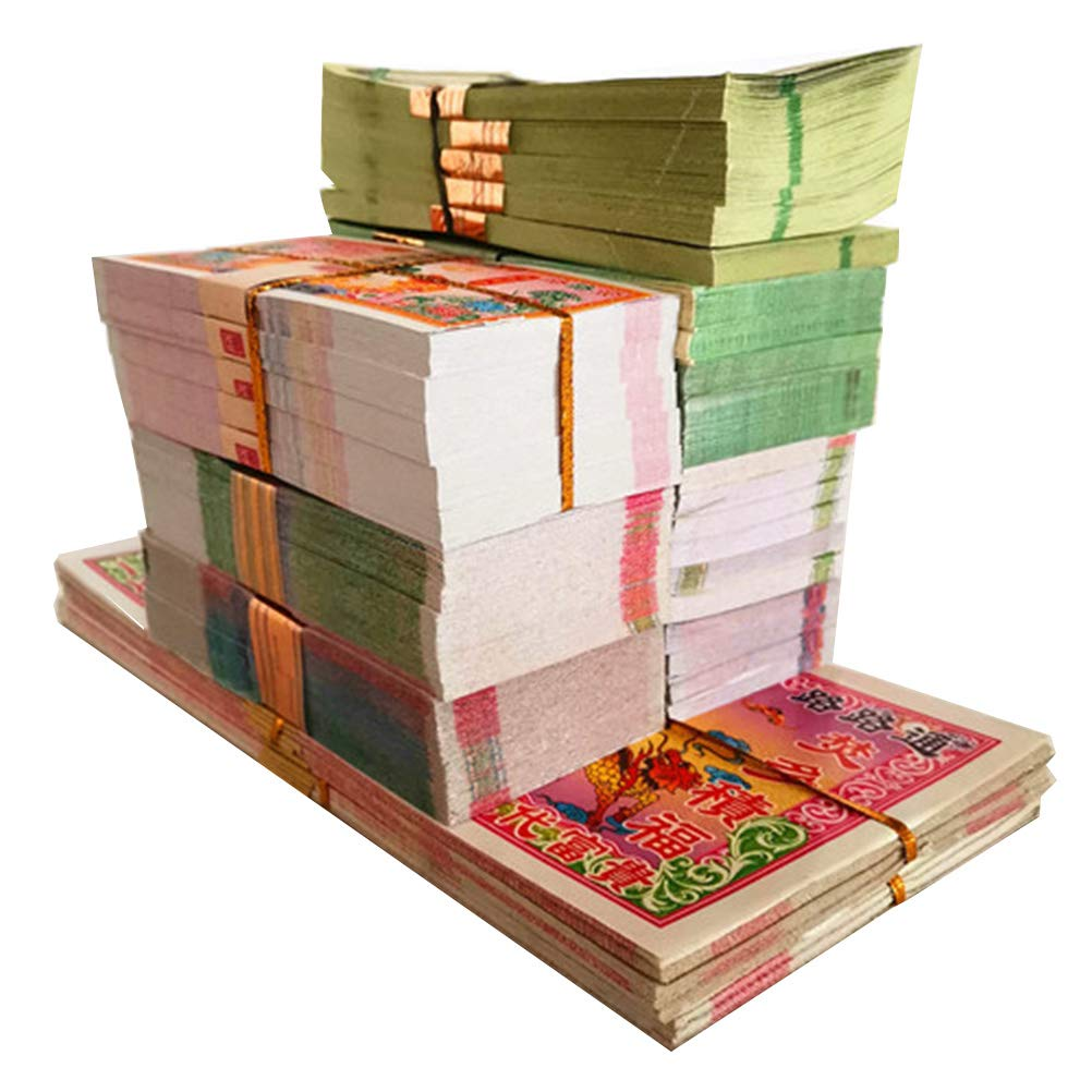 Ancestor Money, 740 Piece Joss Paper Money Ghost Money, Hell Bank Notes for Funerals, The Qingming Festival and The Hungry Ghost Festival, in Honor of Ancestors by GXFC