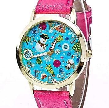 Limpieza de venta! Relojes para mujer, ICHQ para mujer, reloj de cuarzo, reloj de Navidad, correa de alce, analógico, hermoso reloj femenino: Amazon.es: ...