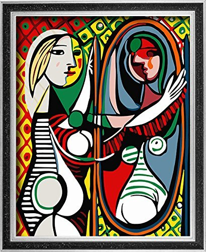 (DoMyArt DIY Oil Painting, Paint by Number Kits - Girl Before a Mirror (Picasso) 16X20 Inch)