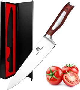 Chef Knife Vestaware Kitchen Knife 8 Inch Chef's Knife - Professional Chefs Knife with Razor Sharp Blade & G10 Ergonomic Handle, German High Carbon 1.4116 Stainless Steel Cutting Knife with Gift Box