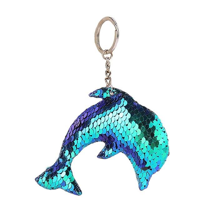 Amazon.com: BIZAR Llavero con diseño de delfines de ...
