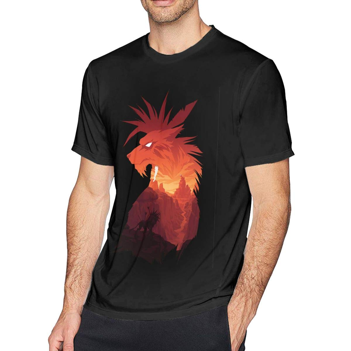 NeedLove Mens Classic The Canyons Guardian T-Shirts Black