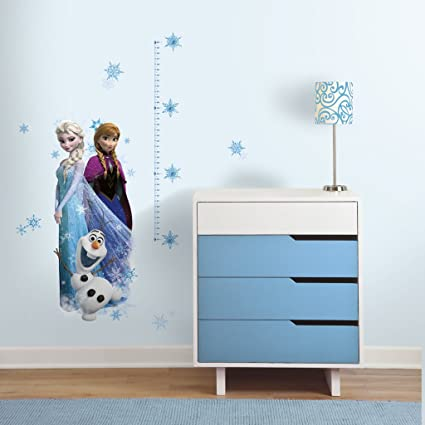 Asian Paints Nilaya Frozen Elsa, Anna And Olaf Giant Height Chart Wall Sticker