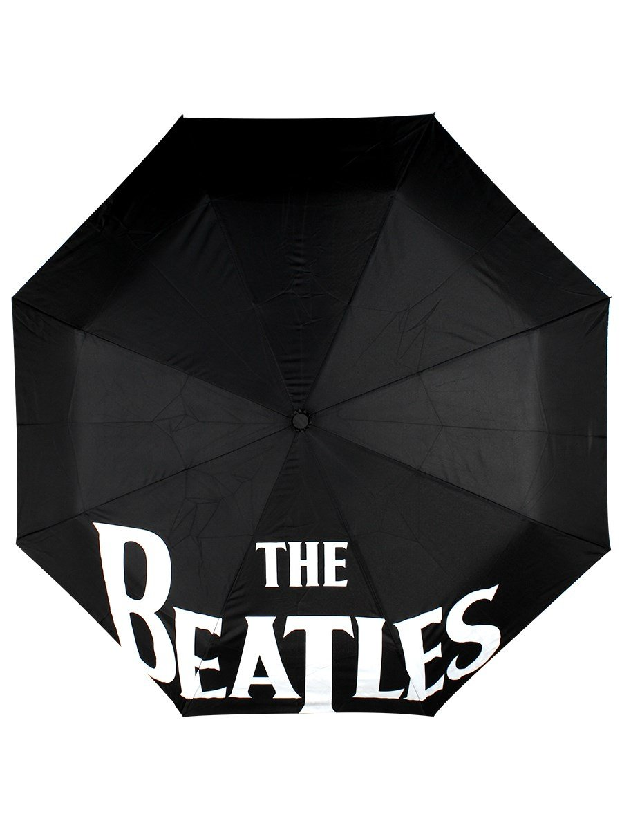 The Beatles Black Automatic Open & Close Umbrella Rock Off BTUMB01