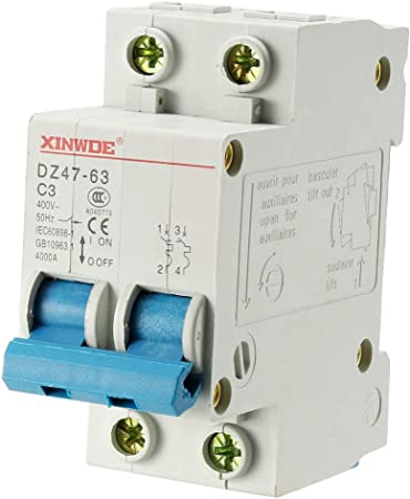 10p DZ47-60 C6 AC230//400V 1P 6A Rated Current 1 Pole Miniature Circuit Breaker