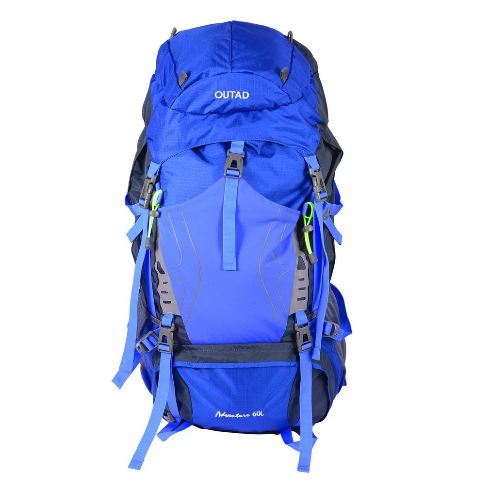 iUcar 60L Backpack Mountaineering Backpack 60L 5L Camping Hiking Backpack Lightweight with Rain Cover