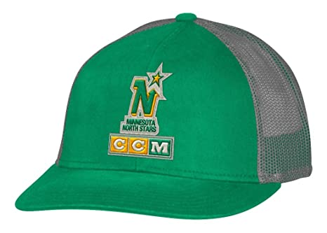 09858dfd71a7c Image Unavailable. Image not available for. Color  adidas Minnesota North  Stars CCM NHL Trucking Structured Adjustable Mesh Back Hat