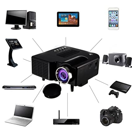be4b046be03ef9 Mini Projector 2018 Upgraded, UNIC UC28+3D 1080p Portable LED Projector  Support USB HDMI