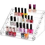 MyBeautyworld24 Nagellackständer Acrylständer Nagellack Lippenstiftständer Aufbewahrung von ca. 60 Nagellackflaschen Nagellackdisplay