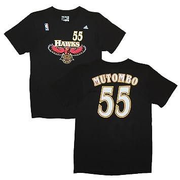 Adidas Atlanta Hawks dikembe Mutombo Negro Nombre y número Camiseta, Negro: Amazon.es: Deportes y aire libre