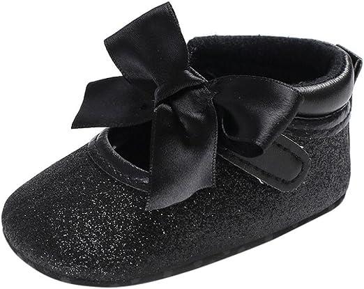 FORESTIME children Baby Unisex Buckles Leather Anti-Slip Soft Sole Crib Prewalker Shoes